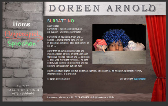 www.doreen-arnold.de Screenshot