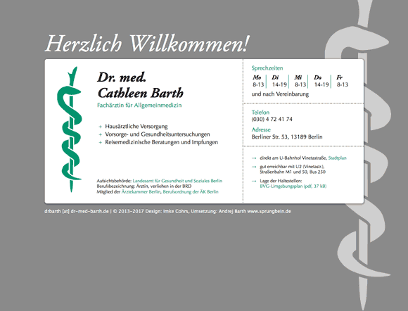 www.dr-med-barth.de Screenshot
