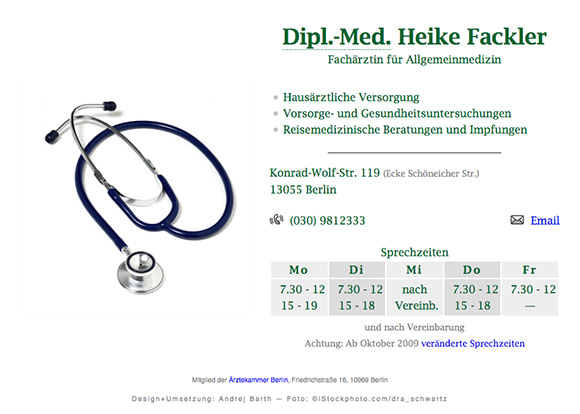 www.heike-fackler.de Screenshot