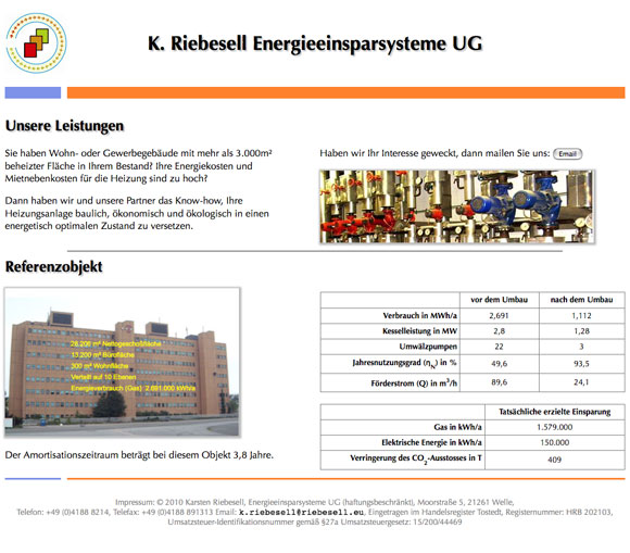 www.riebesell.eu Screenshot